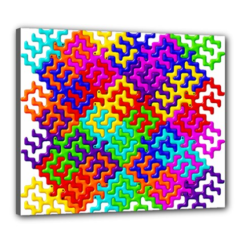 3d Fsm Tessellation Pattern Canvas 24  X 20