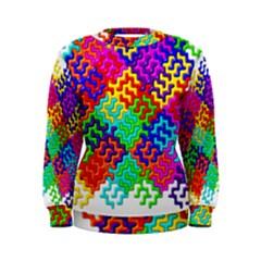 3d Fsm Tessellation Pattern Women s Sweatshirt