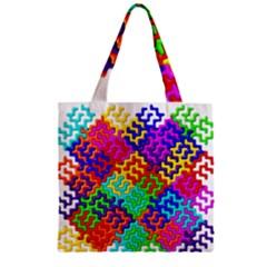 3d Fsm Tessellation Pattern Zipper Grocery Tote Bag