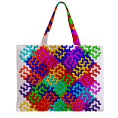 3d Fsm Tessellation Pattern Medium Zipper Tote Bag