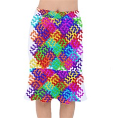 3d Fsm Tessellation Pattern Mermaid Skirt