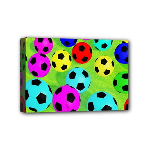 Balls Colors Mini Canvas 6  X 4  by BangZart