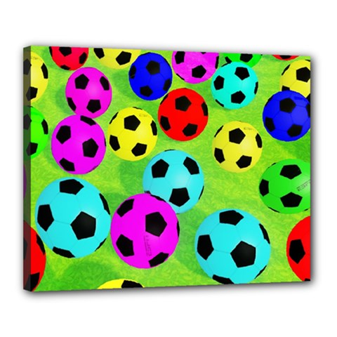 Balls Colors Canvas 20  X 16