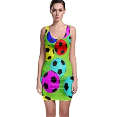 Balls Colors Sleeveless Bodycon Dress