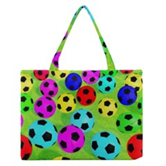 Balls Colors Medium Zipper Tote Bag by BangZart