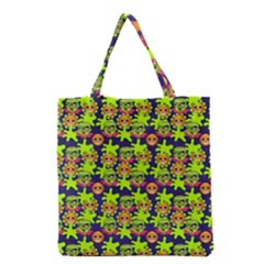 Smiley Monster Grocery Tote Bag by BangZart