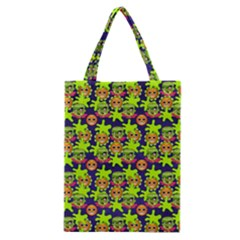 Smiley Monster Classic Tote Bag by BangZart