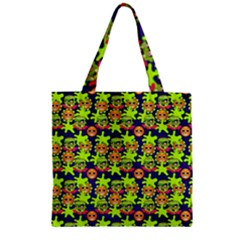 Smiley Monster Zipper Grocery Tote Bag