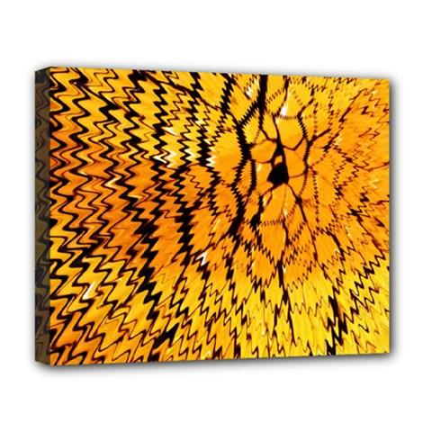 Yellow Chevron Zigzag Pattern Deluxe Canvas 20  X 16