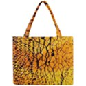 Yellow Chevron Zigzag Pattern Mini Tote Bag View1