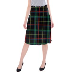 Tartan Plaid Pattern Midi Beach Skirt