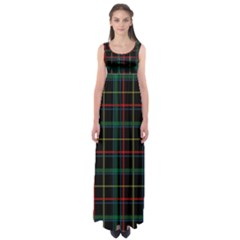 Tartan Plaid Pattern Empire Waist Maxi Dress