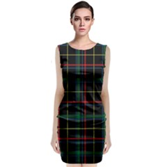 Tartan Plaid Pattern Classic Sleeveless Midi Dress