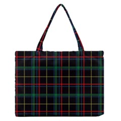 Tartan Plaid Pattern Medium Zipper Tote Bag