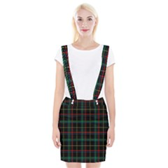 Tartan Plaid Pattern Braces Suspender Skirt