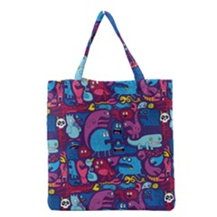 Hipster Pattern Animals And Tokyo Grocery Tote Bag by BangZart