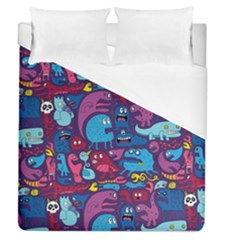 Hipster Pattern Animals And Tokyo Duvet Cover (queen Size) by BangZart