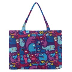 Hipster Pattern Animals And Tokyo Medium Zipper Tote Bag by BangZart