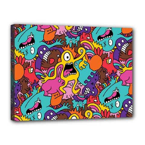 Monster Patterns Canvas 16  X 12