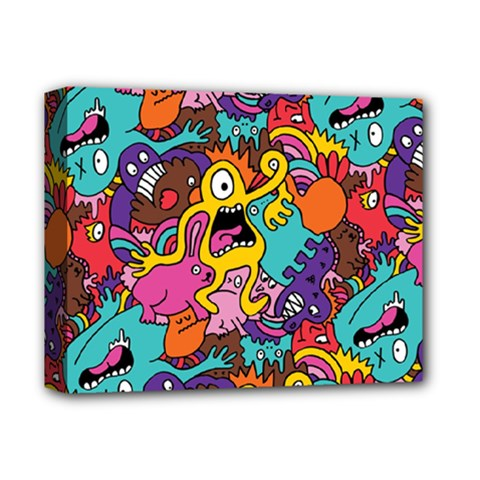 Monster Patterns Deluxe Canvas 14  X 11  by BangZart