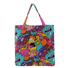 Monster Patterns Grocery Tote Bag
