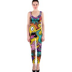 Monster Patterns Onepiece Catsuit