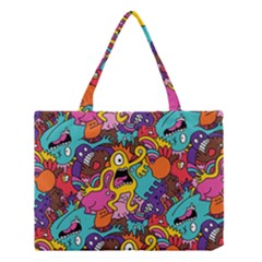 Monster Patterns Medium Tote Bag by BangZart
