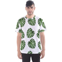 Leaf Pattern Seamless Background Men s Sports Mesh Tee