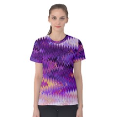 Purple And Yellow Zig Zag Women s Cotton Tee