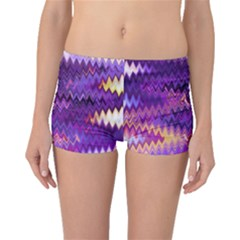 Purple And Yellow Zig Zag Boyleg Bikini Bottoms