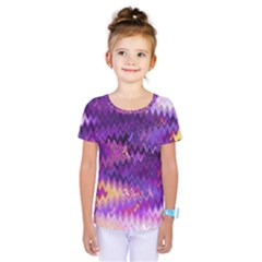 Purple And Yellow Zig Zag Kids  One Piece Tee