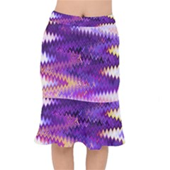 Purple And Yellow Zig Zag Mermaid Skirt