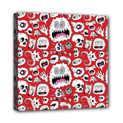 Another Monster Pattern Mini Canvas 8  X 8