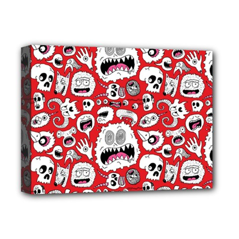 Another Monster Pattern Deluxe Canvas 16  X 12   by BangZart