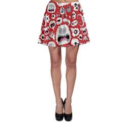 Another Monster Pattern Skater Skirt
