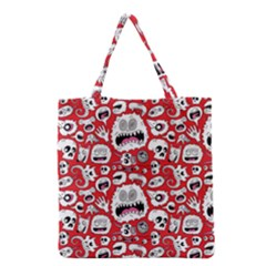 Another Monster Pattern Grocery Tote Bag by BangZart