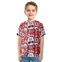 Another Monster Pattern Kids  Sport Mesh Tee