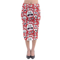 Another Monster Pattern Midi Pencil Skirt by BangZart