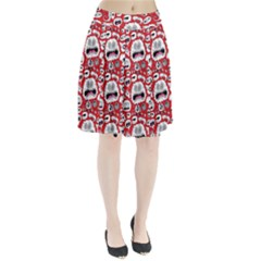 Another Monster Pattern Pleated Skirt