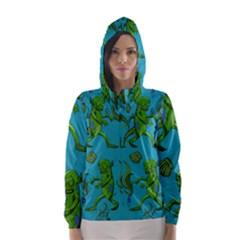 Swamp Monster Pattern Hooded Wind Breaker (women)