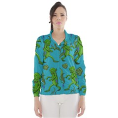 Swamp Monster Pattern Wind Breaker (women)