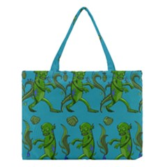 Swamp Monster Pattern Medium Tote Bag by BangZart