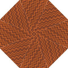 Brown Zig Zag Background Hook Handle Umbrellas (medium) by BangZart