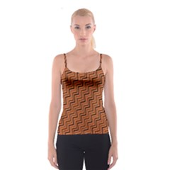 Brown Zig Zag Background Spaghetti Strap Top