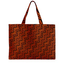 Brown Zig Zag Background Zipper Mini Tote Bag