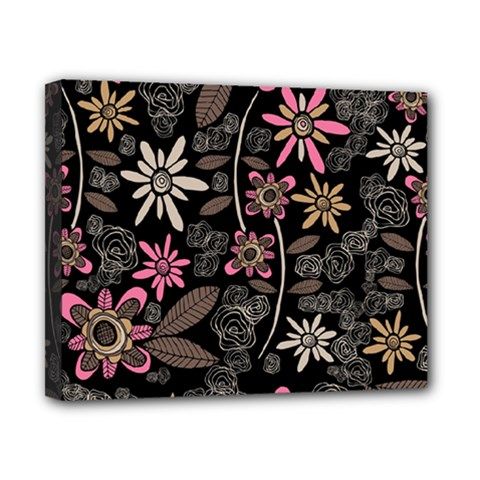 Flower Art Pattern Canvas 10  X 8  by BangZart