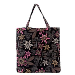 Flower Art Pattern Grocery Tote Bag