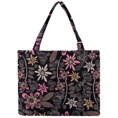 Flower Art Pattern Mini Tote Bag