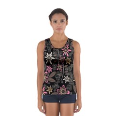 Flower Art Pattern Women s Sport Tank Top