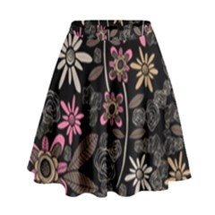 Flower Art Pattern High Waist Skirt by BangZart